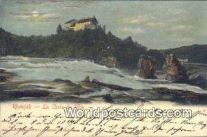 La Chute du Rhin, Rheinfall Sweden 1905 Writing on front