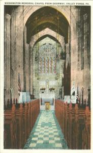 Washington Memorial Chapel from doorway, Valley Forge, Pa...