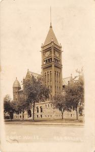 Red Oak Iowa~11:30 AM On The Courthouse Clocktower~Minaret Tower RPPC c1919