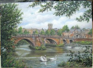 England Chester's Old Dee Bridge by Sue Firth - posted 2002
