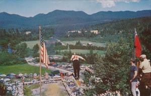 New York Lake Placid Fourth Of July Ski Jumpers