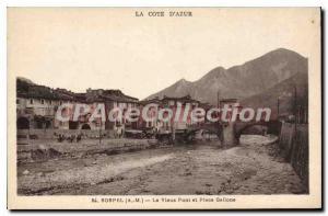 Postcard Old Sospel The Old Bridge and Plaza Gallone