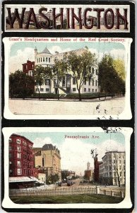 C.1910 Grant's Headquarters Building Red Cross Washington, D.C. Postcard P123