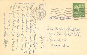 Baxter Springs Kansas~Trees Along Waterfront~1949 Cancel~Linen Postcard