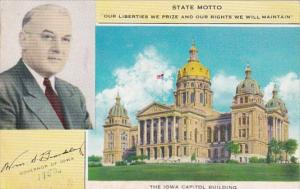Iowa Des Moines State Capitol Building 1952