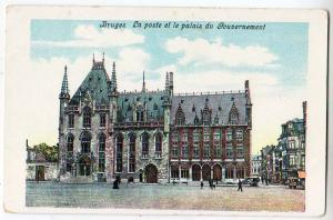 Bruges La poste ef le palais du Gouvernement