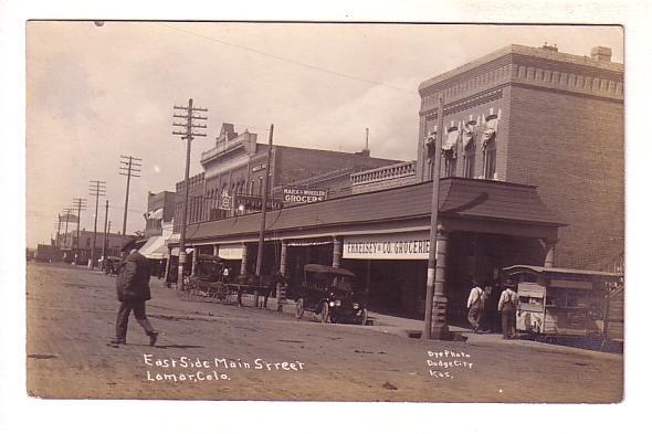 Real Photo, East Side Main Street, Cars, People, Lamar, Colorado, Dyo Photo, ...