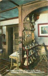 Bells Burdette Interior Pasadena California  C-1910 Postcard  Rieder 20-2835