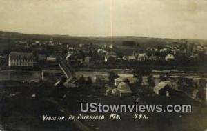 Fort Fairfield, ME, Post Card,      Fort Fairfield, Maine Fort Fairfield ME U...
