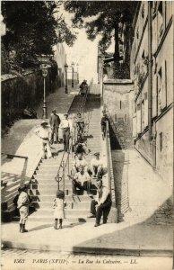 CPA AK PARIS 18e La Rue du Calvaire (539379)