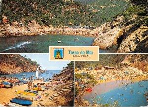 B110452 Spain Costa Brava Tossa de Mar Cala Pola Beach Panorama Plage