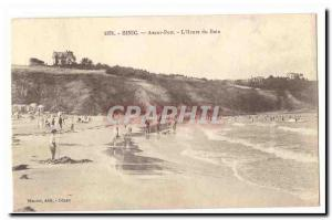 Binic Old Postcard Before harbor L & # 39heure bath
