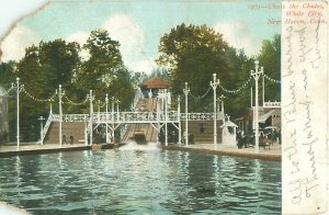 Chute the Chutes White City, New Haven Connecticut 1907 Postcard DAMAGED