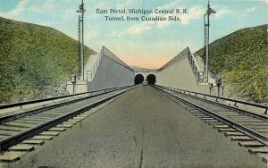 Detroit Michigan~East Portal~Michigan Central R.R.~Tunnel from Canadian Side