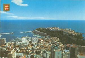 Monaco Vue generale du port et du Rocher, 1986 used Postcard