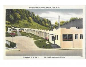 Miagene Motor Court Motel Bryson City NC US Hwy 19 Center of Town