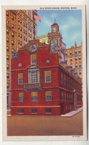 P133 JL 1930-45 linen postcard old state house boston mass
