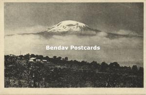 tanzania, MOSHI, Panorama with  Mount Kilimanjaro Volcano (1930s)