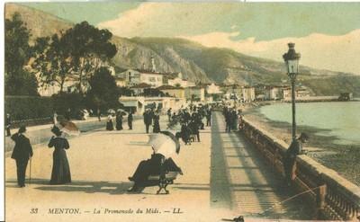 France, Menton, La Promenade du Midi, early 1900s unused ...