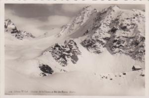 Switzerland Cabane McFort Glacier de la Chaux et Bec des Roxes Real Photo