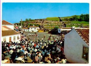 Huge Crowd, Roped Bullfighting at Sao Sebastiao, Ilha Terceira, Portugal