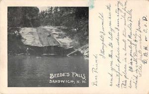 Sandwich New Hampshire Beede's Falls Scenic View Vintage Postcard J927002