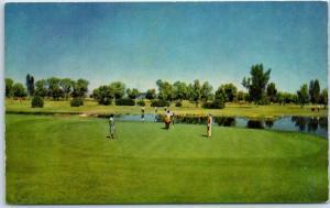 Chandler, Arizona Postcard Golf Course THE SAN MARCOS Hotel & Bungalows c1960s