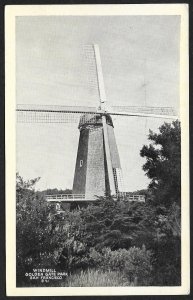 Windmill Golden Gate Park San Francisco California Unused c1920s