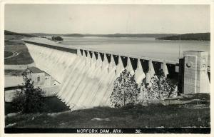 Norfork Arkansas~Norfork Dam Aerial View~#32~Real Photo 1950 Postcard~RPPC