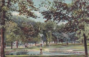 Maine Bath New Fountain In The Park 1907