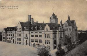 Detroit Michigan~Central High School (Rear View Showing Addition)~c1910 Postcard