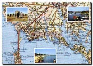 Postcard Modern Charnac Trinidad menhirs beach port of Trinite