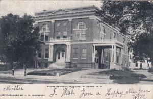 W. DERRY, New Hampshire, PU-1906; Adams Memorial Building