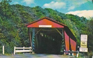 Ohio Cleveland Everett Road Covered Bridge Boston Township 1974
