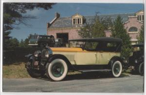 1925 Packard Touring Car Yellow At Edaville Railroad Mass Vintage Postcard