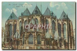 Old Postcard Lille Saint Maurice the church apse