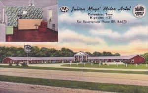 Tennesse Columbia Julian Mays Motor Hotel