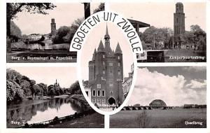 Zwolle Greece, Grece Burg v Royensingel m Peperbus, Ijsselbrug Zwolle Burg v ...