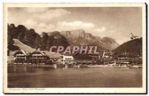 Postcard Old Hotel Konigssee Schiffmeister