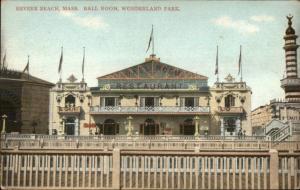 Revere Beach MA Wonderland Park c1910 Ball Room Postcard