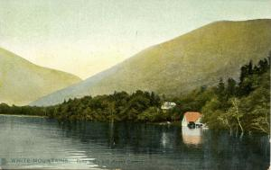 NH - Franconia Notch. Echo Lake & Cannon Mountain circa 1907. *DPO- Profile H...