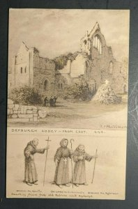 Mint Vintage Dayburgh Abbey from East Scotland Illustrated Postcard