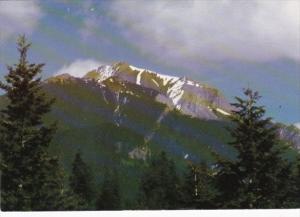 Canada Mount Steven In Springtime At Golden British Columbia