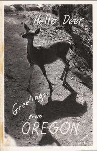 RP: Greetings From OREGON, 1940-1950s; Hello Deer