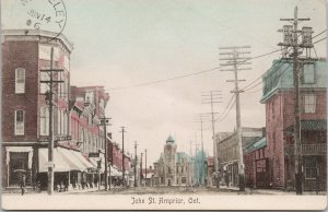 John Street Arnprior Ontario ON Balgonie SK Postmark c1906  Postcard F14
