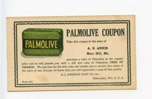 Milwaukee WI Mars Hill ME Palmolive Soap 1914 Advertising Postcard