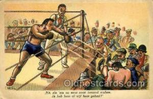 Steew Boxing Postcard Post Cards Old Vintage Antique Postcard  Steew