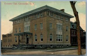 GLOVERSVILLE NY ECCENTRIC CLUB 1911 ANTIQUE POSTCARD