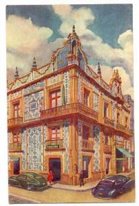 Painting of The Famous House of Tiles (Casa de los Azulejos), occupied by San...