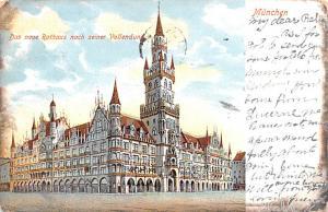 Munchen Germany Das neue Rathaus nach seiner Vollendung Munchen Das neue Rath...